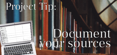 Project tip - Document your sources feature image